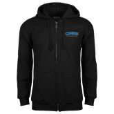 Black Fleece Full Zip Hoodie-CSUSB Athletics