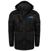 Black Brushstroke Print Insulated Jacket-CSUSB Athletics