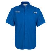 Columbia Bonehead Royal Short Sleeve Shirt-CSUSB Athletics