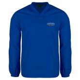 V Neck Royal Raglan Windshirt-CSUSB Athletics