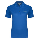 Ladies Easycare Royal Pique Polo-CSUSB Athletics