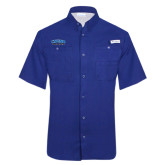 Columbia Tamiami Performance Royal Short Sleeve Shirt-CSUSB Athletics