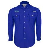 Columbia Bahama II Royal Long Sleeve Shirt-CSUSB Athletics