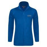 Ladies Fleece Full Zip Royal Jacket-CSUSB Athletics