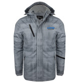 Grey Brushstroke Print Insulated Jacket-CSUSB Athletics