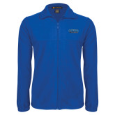 Fleece Full Zip Royal Jacket-CSUSB Athletics