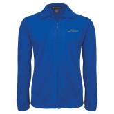 Fleece Full Zip Royal Jacket-CSUSB