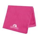 Pink Beach Towel-Primary Logo