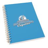 Clear 7 x 10 Spiral Journal Notebook-Secondary Logo