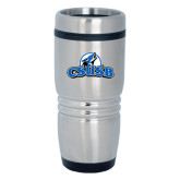 Rolling Ridges Silver Stainless Tumbler-Primary Logo