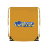 Nylon Gold Drawstring Backpack-CSU Bakersfield Roadrunners