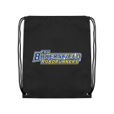 Nylon Black Drawstring Backpack-CSU Bakersfield Roadrunners
