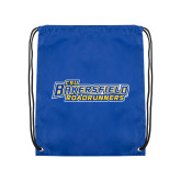 Nylon Royal Drawstring Backpack-CSU Bakersfield Roadrunners