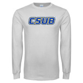 White Long Sleeve T Shirt-CSUB