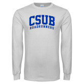 White Long Sleeve T Shirt-Arched CSUB Roadrunners