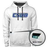 Contemporary Sofspun White Hoodie-CSUB
