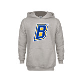 Youth Grey Fleece Hood-B