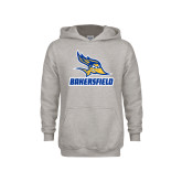 Youth Grey Fleece Hood-Roadrunner Head Bakersfield