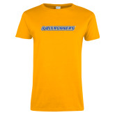 Ladies Gold T Shirt-#AllRunners