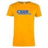 Ladies Gold T Shirt-CSUB Roadrunners