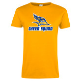 Ladies Gold T Shirt-Cheer Squad