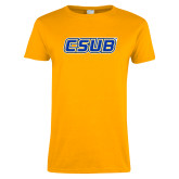 Ladies Gold T Shirt-CSUB