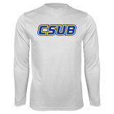 Syntrel Performance White Longsleeve Shirt-CSUB