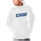 Under Armour White Armour Fleece Hoodie-CSUB