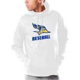 Under Armour White Armour Fleece Hoodie-Baseball