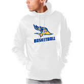 Under Armour White Armour Fleece Hoodie-Basketball