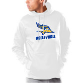 Under Armour White Armour Fleece Hoodie-Volleyball