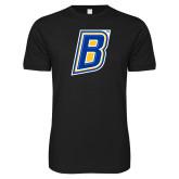 Next Level SoftStyle Black T Shirt-B