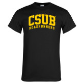 Black T Shirt-Arched CSUB Roadrunners