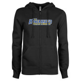 ENZA Ladies Black Fleece Full Zip Hoodie-CSU Bakersfield Roadrunners