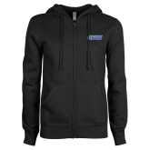 ENZA Ladies Black Fleece Full Zip Hoodie-CSUB