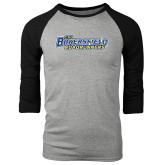Grey/Black Tri Blend Baseball Raglan-CSU Bakersfield Roadrunners