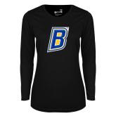 Ladies Syntrel Performance Black Longsleeve Shirt-B