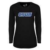 Ladies Syntrel Performance Black Longsleeve Shirt-CSUB