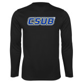 Performance Black Longsleeve Shirt-CSUB