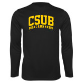 Performance Black Longsleeve Shirt-Arched CSUB Roadrunners