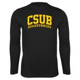 Performance Black Longsleeve Shirt-Arched CSUB Roadrunners