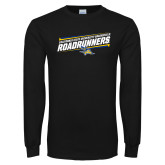 Black Long Sleeve TShirt-Slanted Roadrunners Stencil w/ Logo
