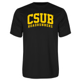 Performance Black Tee-Arched CSUB Roadrunners