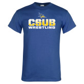 Royal T Shirt-CSUB Wrestling Stencil