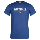 Royal Blue T Shirt-CSU Bakersfield Softball Stencil