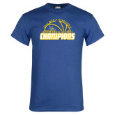 Royal Blue T Shirt-2017 Western Athletic Conference Champions - Mens Basketball Half Ball