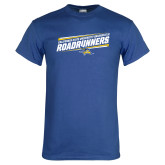 Royal Blue T Shirt-Slanted Roadrunners Stencil w/ Logo
