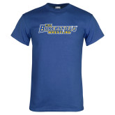 Royal Blue T Shirt-Wrestling