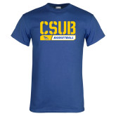Royal T Shirt-CSUB Basketball Stencil