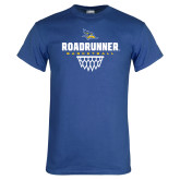 Royal Blue T Shirt-Roadrunner Basketball Net Icon
